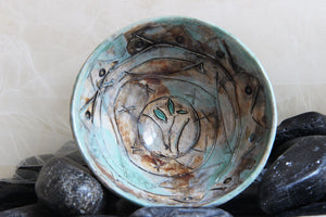 elegant-small-handmade-unique-carved-flower-stoneware-ceramic-bowl