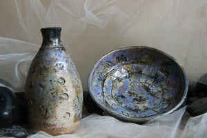 unique-handmade-stoneware-pottery-bud-vase-trinket-bowl-set