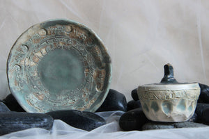 unique-handmade-carved-stoneware-ceramic-trinket-plate-and-jar-combo-set