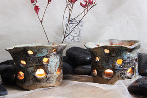 carved-stoneware-handmade-tealight-candle-holders