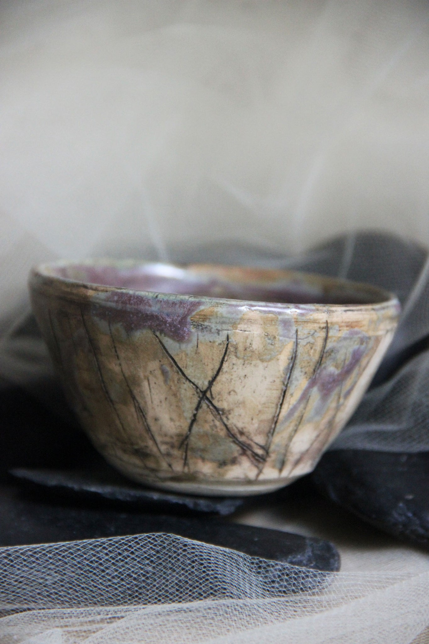 lovely-unique-carved-stoneware-pottery-trinket-bowl