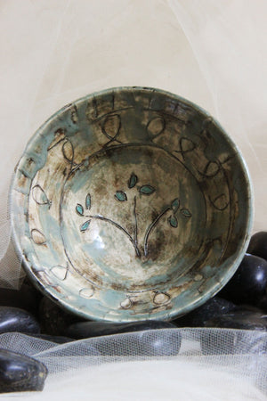unique-handmade-small-flower-carved-ceramic-soup-rice-cereal-noodle-bowl