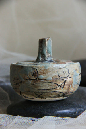 beautiful-carved-small-handmade-stoneware-trinket-jar