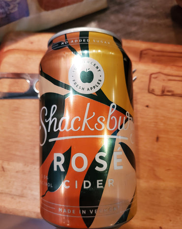 Shacksbury Rose Cider from Vermont 12 oz