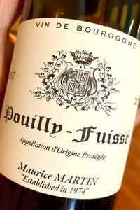 2017 Maurice Martin Pouilly-Fuisse  750ml