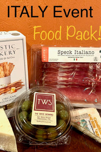 "Optional Food Pack for Tom Kelly ITALY ""Event"""