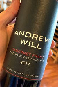 2017 Andrew Will Cabernet Franc  750ml