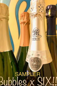 6-Bottle Sparkling Wine Sampler!       - And a ZOOM EVENT to go along!