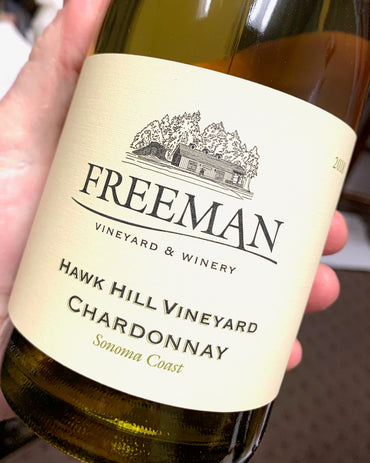 2018 Freeman Chardonnay Hawk Hill  750ml