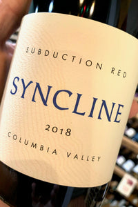 2018 Syncline 'Subduction' Red  750ml