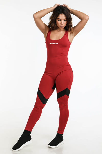 Aerial Jumpsuit Red - Alvy Luxe
