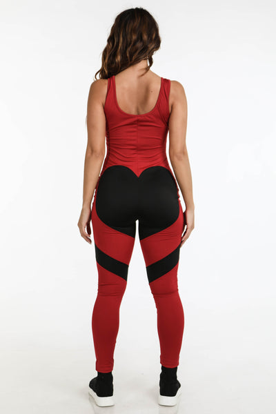 Aerial Jumpsuit Red