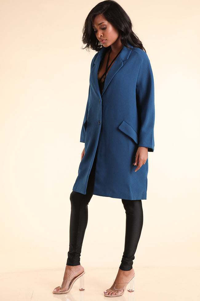 The NYC Cobalt Coat