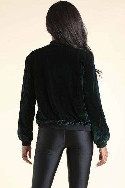 Sway Dark Green Bomber jacket