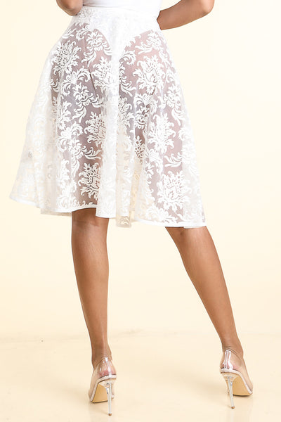 Good Girl White lace Skirt