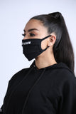Cloth logo Face Mask Black (2 in 1 pack)