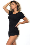 Alvy Hem Bodycon Black T-Shirt Dress