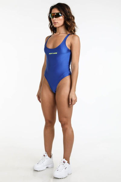Logo Bodysuit Royal Blue - Alvy Luxe