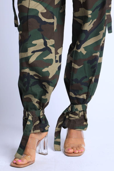 Camo High Waisted Pants
