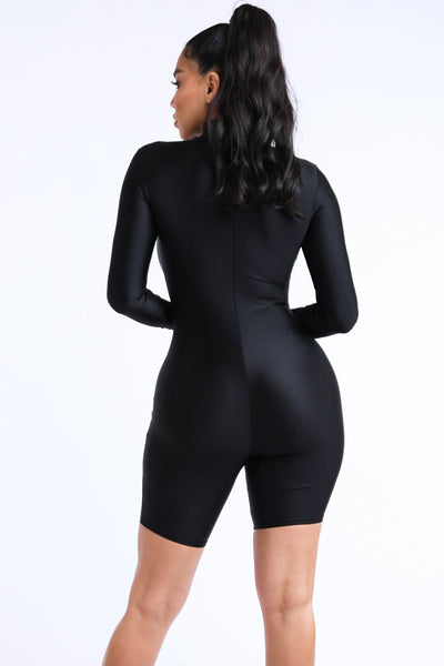Cody Black Romper
