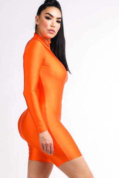 Cody Orange Romper - Alvy Luxe