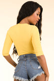 High Waisted Yellow Bodysuit