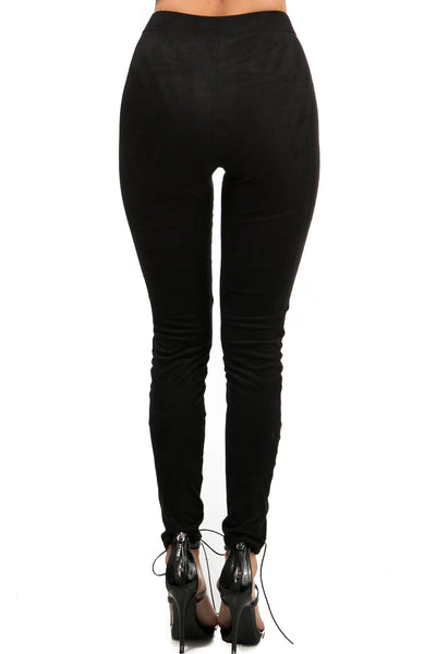 Lace Lace Suede Leggings