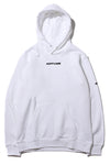 Logo oversize White Hoodie - Alvy Luxe