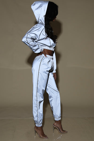 Oski Reflective grey track suit (set)