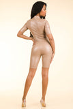 Lucid Dream Nude Satin Romper