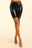 Loud Black Satin biker shorts