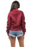 The Air Mesh Bomber Burgundy Jacket