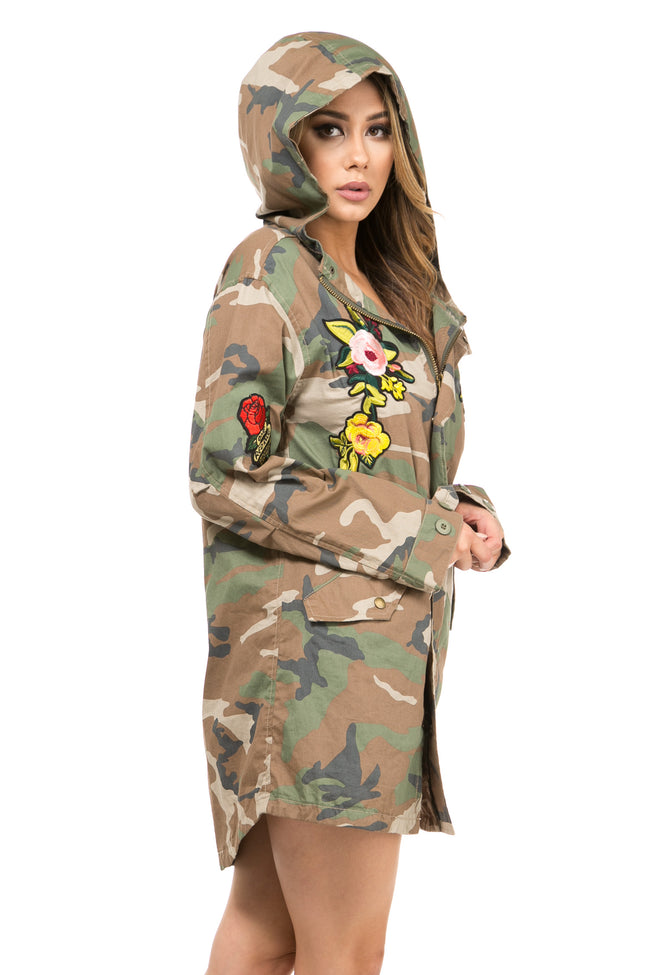 Peace & Love Camo Anorak