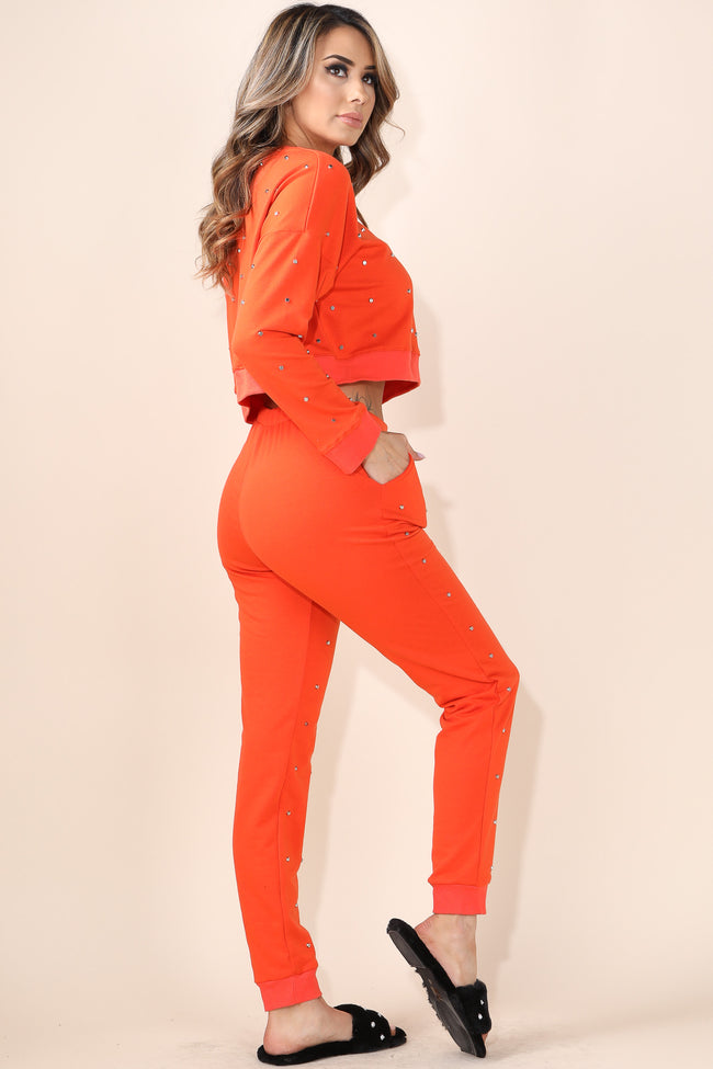 Studded Orange Set