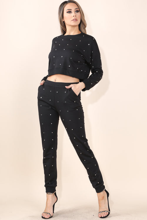 Studded Black Set