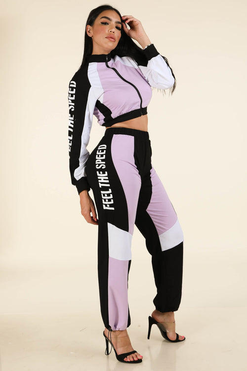 Feel The Speed Track Suit - Alvy Luxe