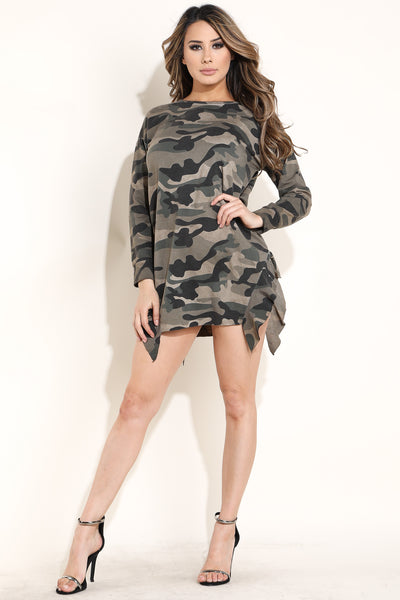 Gabby Camo Tunic Dress