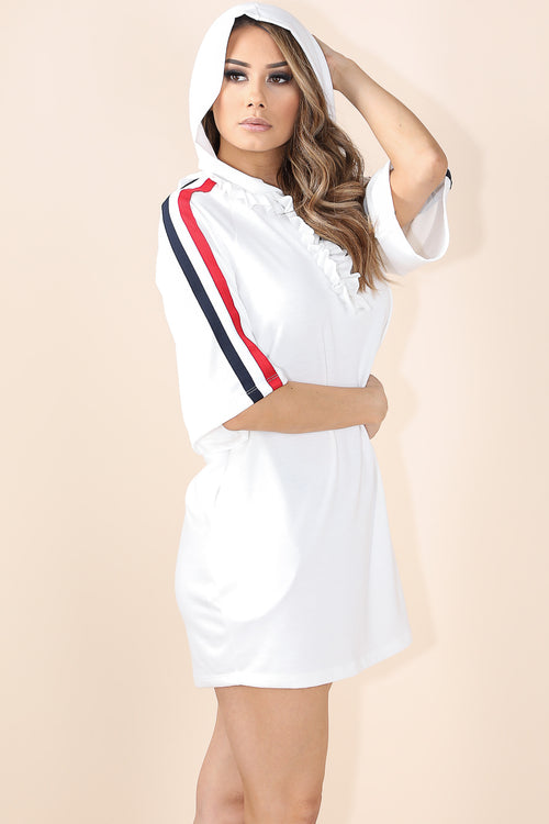Wishing on me White Hoodie Dress