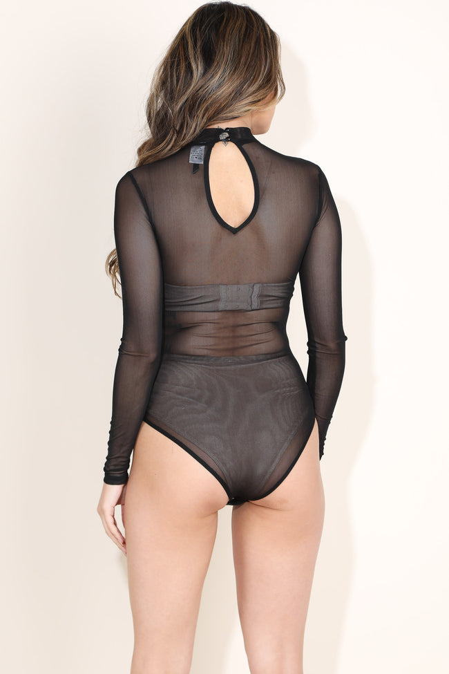 Meshy Alvy Black Bodysuit