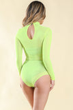 Meshy Alvy Neon Yellow	 Bodysuit