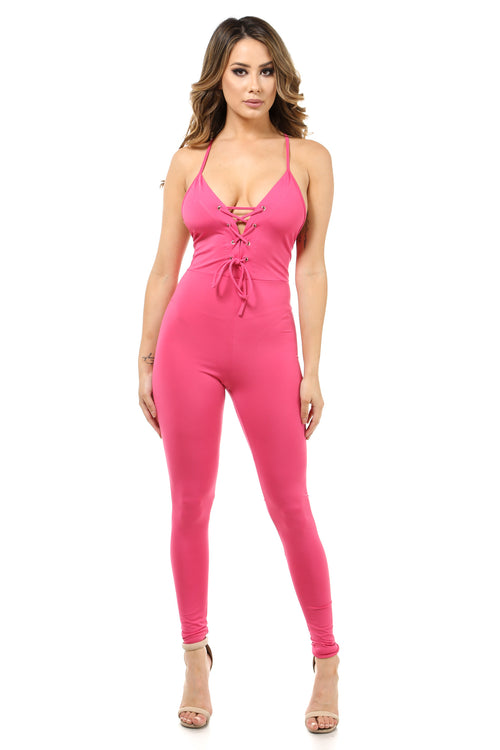 All of me Fuchsia Catsuit