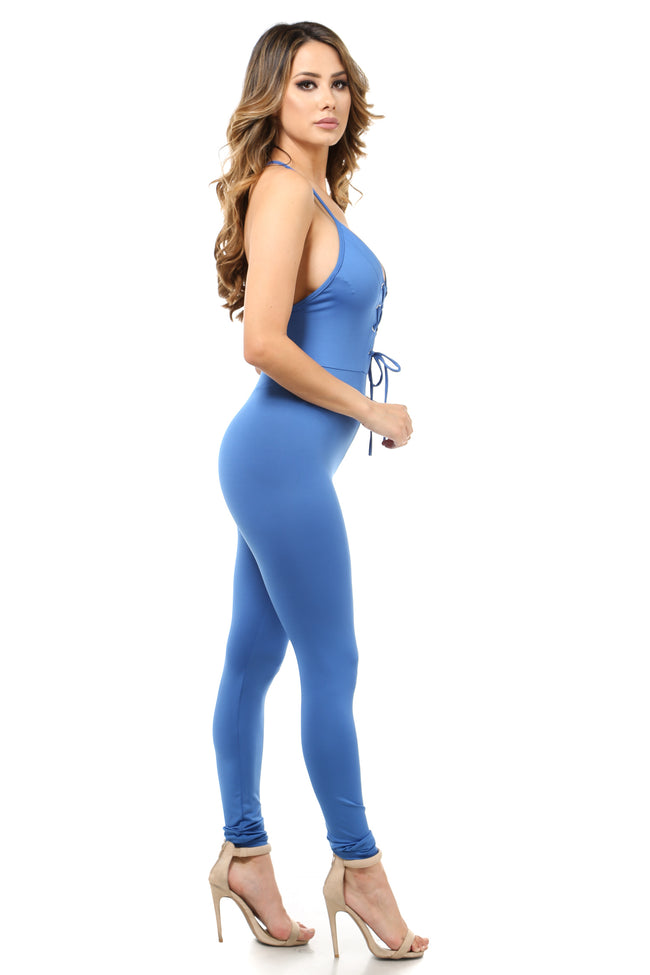 All of me Royal Blue Catsuit