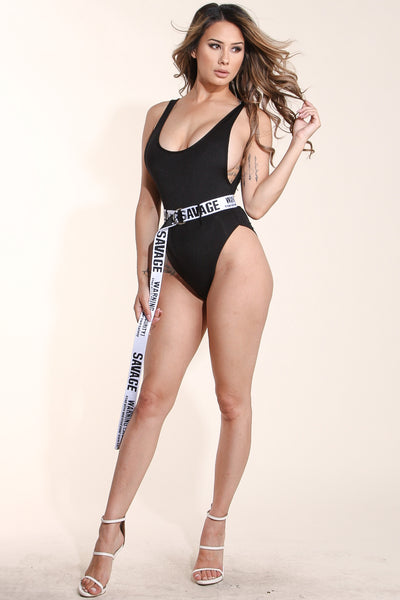 No manners Black swimsuit