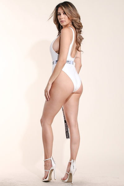 No manners White swimsuit