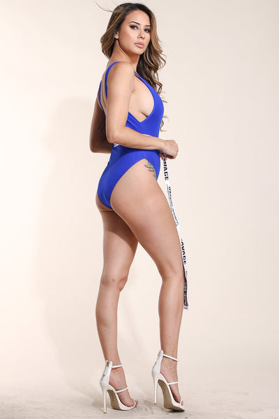 No manners Blue swimsuit
