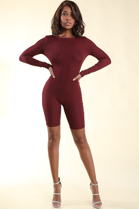 Lucky you Burgundy Romper