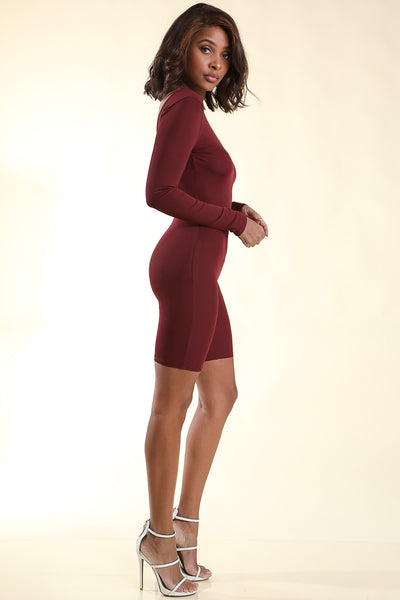 Beverly Burgundy Romper