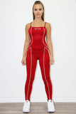 Lea Piped Jumpsuit (w/ jacket)