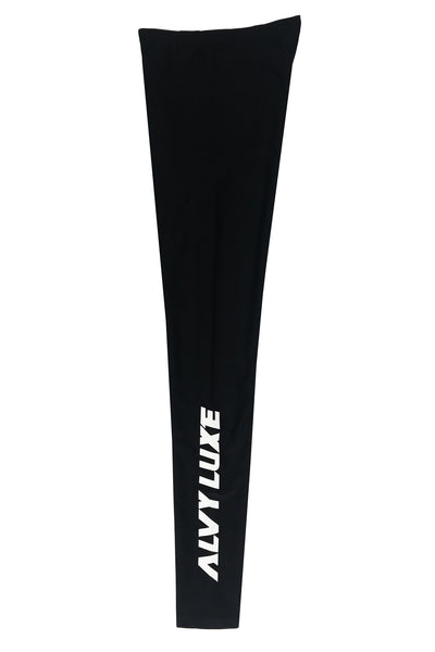 Logo Black Leggings - Alvy Luxe