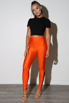 Logo Orange Leggings